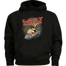 Big and tall sweatshirt hoodie lady luck pin up girl shirt big and tall for men