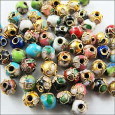 New Charms Mixed 6mm 8mm 10mm Cloisonne Enamel Round Spacer Beads