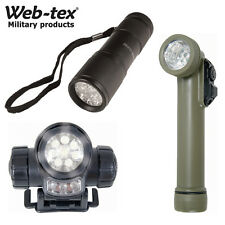 Web-Tex Warrior LED Angle Flashlight Head Torch Multi Function Batteries Inc.