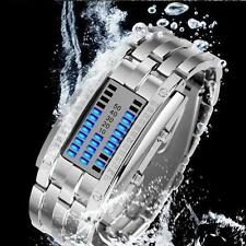 Luxury Men's Watch Stainless Steel Date LED Digital Watch Bracelet Sport Watches