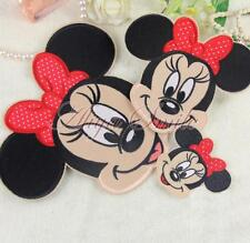 Cute Cartoon Mickey Minnie Mouse Applique Embroidered Sew Iron On Patch Accesory