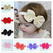 wholesale Cute Baby Toddler Girls Elastic Hair Band Bow Headband Turban Knot