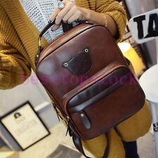 New Fashion Womens Casual College Backpacks Bookbags Bear PU Leather Cute Tote