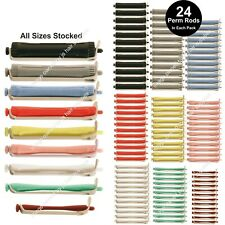 24 X PERM CURLING RODs ROLLERS CURLERS for perming hair. ALL SIZES. FREE P&P