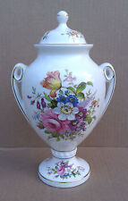 "AYNSLEY 8.5"" LIDDED URN/VASE - HOWARD SPRAYS -  SIGNED F HOWARD"