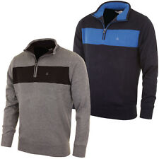 Calvin Klein Golf 2015 Mens Ribbed Lined Half Zip Sweater Jumper Pullover