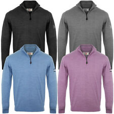 Cutter & Buck 2014 Mens Merino Zip Neck Sweater Golf Jumper Pullover