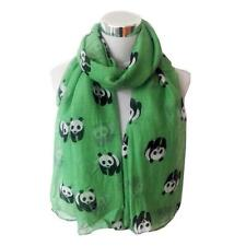 Women Scarf Lovely Panda Print Soft Voile Shawl Rectangle Winter Scarf Scarves