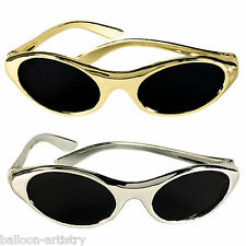 12 Assorted Hollywood Party Gold Silver Oval Sunglasses Glasses Loot Favours