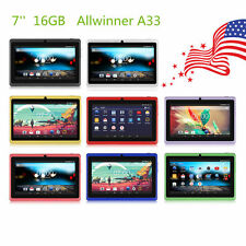 "16G 7"" Google Android 4.4 Dual Cameras WiFi Bluetooth Tablet PC Pad US Stock"