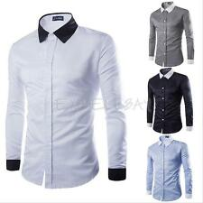 Men's Stylish Casual Formal Shirt Long Sleeve Slim Fit Business Dress Shirts TOP