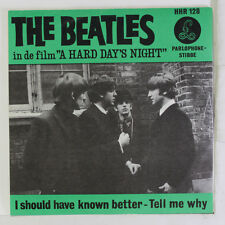BEATLES: I Should Have Known Better / Tell Me Why 45 (Netherlands, VG+ PS) rare