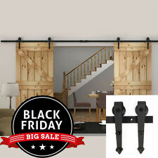 Arrow Antique Hanger Interior Barn Wood Steel Sliding Double Door Hardware New