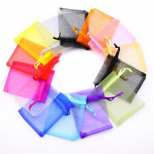 15 Pcs Colorful Organza Jewelry Candy Gift Pouch Bags Wedding Party Favors 7x9cm