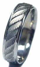 NEW! 7mm Wide 14k Two Tone Gold Diamond Cut Comfort Fit Men's Wedding Band Ring
