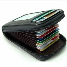 Mens/Womens Fashion Mini Leather Wallet ID Credit Cards Holder Organizer Purse C