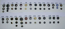 Set of 2 Holes - 4 Holes & Shank Plastic/Metal Suit Buttons - 27 Assorted Sets