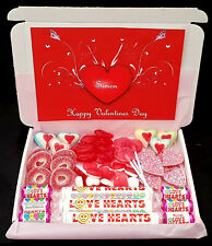 Gift for Him or Her Sweet Chocolate Gift Box Personalised Love Heart I Love You