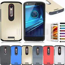 Hybrid Slim Case Hard Protective Cover For Motorola Droid Turbo 2 Bounce X Force