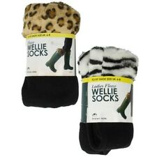 Ladies RJM Fleece Wellie Socks Label SK206