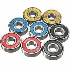 8PCS ABEC 7 608RS Skateboard Roller Skate Wheels Scooter Spare Bearings 4 Colors