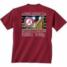 Alabama Crimson Tide 2015 College Playoff National Champions T-Shirt Recap Score