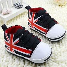 Baby Toddler Boys Girls Canvas Lace Up Crib Shoes Soft Sole Sneakers Prewalker