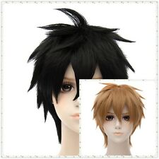Brown/Black Synthetic Hair Cosplay Party Short Curly Costume Full Anime Wigs