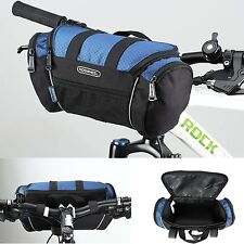 New Cycling Bike Bicycle Front Pannier Basket Handlebar Bar Bag Quick Release