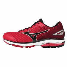 Mizuno Wave Rider 19 Red Black Mens Running Shoes Sneakers Trainers J1GC16-0310