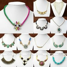 Fashion Crystal Rhinestone Flower Choker Collar Chain Pendent Necklace Jewellery