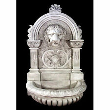 """Giant Lion Wall Fountain-Indoor or Garden- by Orlandi- 13 Finishes Available 58"""""""