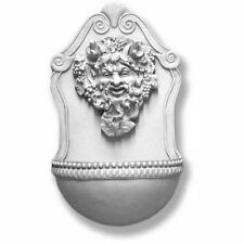 """Bacchus Wall Fountain- Indoor or Garden- by Orlandi-13 Finishes Avail- 24"""" Tall"""