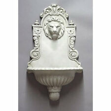 """English Lion Wall Fountain- Indoor or Garden- by Orlandi-13 Finishes Avail. 30""""H"""