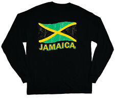 long sleeve t-shirt for men Jamaica pride Jamaican flag tee shirt soccer sports