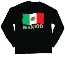 long sleeve t-shirt for men Mexico pride Mexican flag tee shirt soccer sports