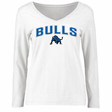 Buffalo Bulls Women's White Proud Mascot Slim Fit Long Sleeve T-Shirt