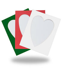 HEART SHAPED PHOTO/PICTURE MOUNTS - ALL PACKS WITH FREE POSTAGE