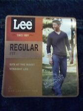 NWT, $44. MSRP, Mens Lee Regular Fit Straight Leg Dark Stone Jeans / Pants
