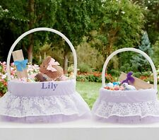 POTTERY BARN KIDS ORGANZA LACE EASTER BASKET LINERS LARGE WITH VARIOUS NAMES