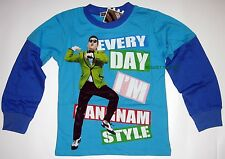 BNWT Gangnam Style T-Shirt long sleeves Top Tshirt 100% cotton new release