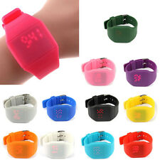 Waterproof Mens Womens Sports Digital Touch Watch Silicone Bracelet Wrist Watch
