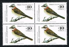 CHILE 2000 STAMP # 1924 MNH BLOCK OF FOUR BIRD CHINCOL