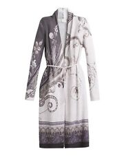 New! CHICO'S PURPLE ORCHID PAISLEY JOSIE LONG DUSTER Cardigan Sweater SIZE 1 2 3