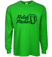 funny st patricks day t-shirt relief pitcher baseball beer drinking funny tee