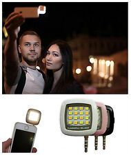 16LEDs Mini Selfie Flash Fill Light For Smartphone IOS Android 3.5mm Jack Unvers