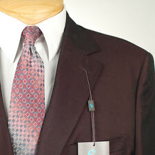 48R STEVE HARVEY Solid Burgundy SUIT SEPARATE  48 Regular Mens Suits - SS27