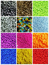 1000pcs 2mm 16g Czech Glass Seed Round Loose Opaque Colored Beads Jewelry Making
