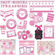 Pink Girl's New Baby Shower With Love Party Plates Napkins Tableware Listing