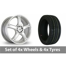 "4 x 16"" BK Racing 333 Silver Alloy Wheel Rims and Tyres -  185/50/16"